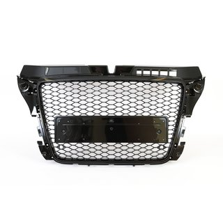 RS3 Wabendesign Kühlergrill Wabengrill Glanz passend für Audi A3 8P 08-13 - RS Umbau