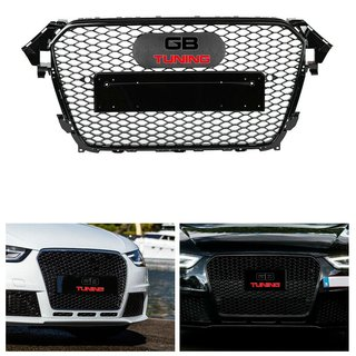 RS4 Wabendesign Kühlergrill Wabengrill Glanz passend für Audi A4 B8 2012-2015 - RS Umbau