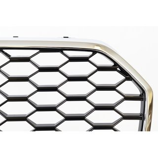 RS6 Wabendesign Kühlergrill Wabengrill Glanz passend für Audi A6 C7 16- RS Umbau